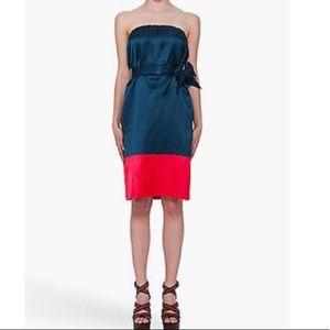 Strapless color block dress from Marc Jacobs